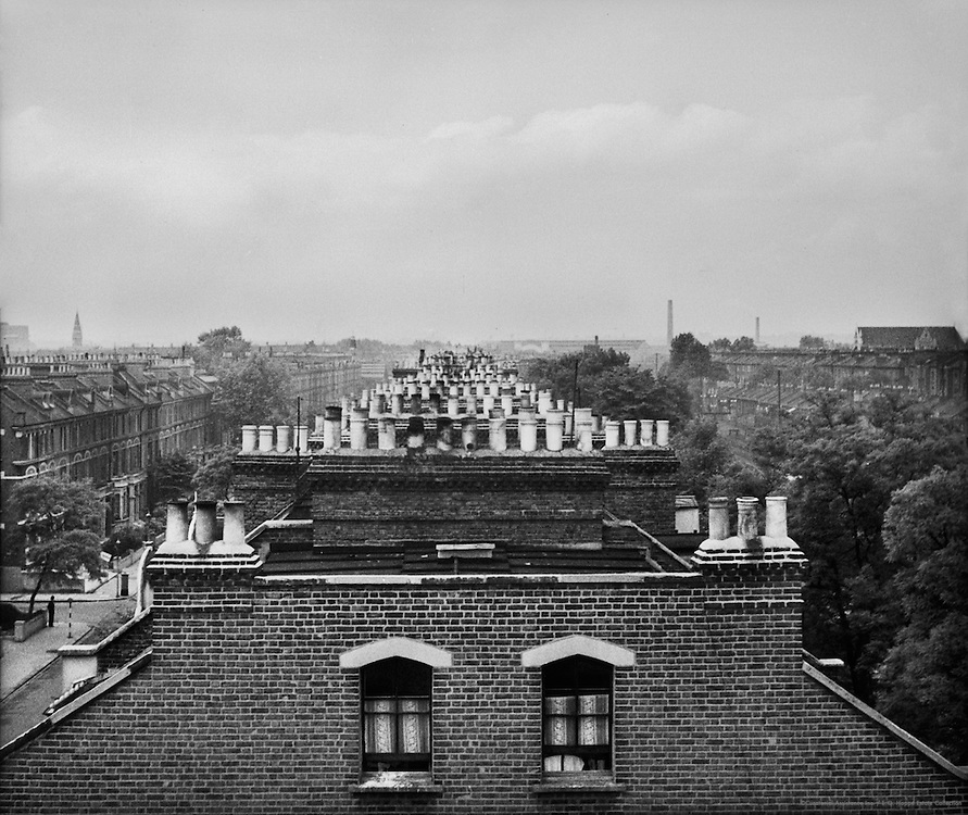View from Roof of Olympia Garage, London, England, 1937