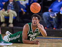 UAB Blazers forward Will Butler (12) dives for the ball during the UAB Blazers at Middle Tennessee Blue Raiders college basketball game in Murfreesboro, Tennessee, Saturday, February, 15, 2020. Middle lost 79-66.<br /> Photo: Harrison McClary/All Tenn Sports