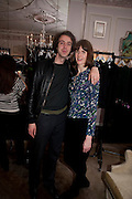 CHARLES SEBLNE; LADY SOPHIA HAMILTON; Hamlton-Paris host a trunk show for Autumn/Wnter 2010. The Connaught. Carlos Place. Mayfair. London W1. 23 March 2010.