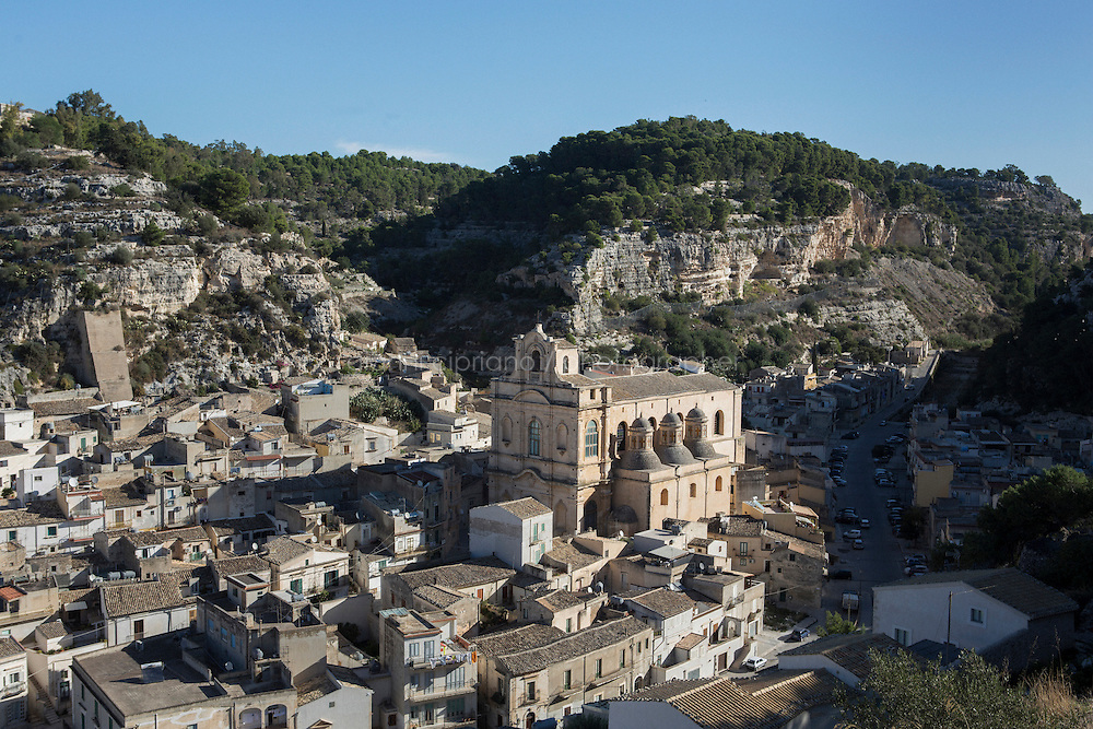 """SCICLI, ITALY - 23 OCTOBER 2014: The eremo of San Guglielmo in, where scenes of the TV series """"Il Commissario Montalbano"""" have been shot, in Scicli, Italy, on October 23rd 2014."""