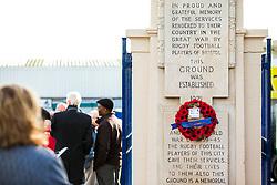 Remembrance Service outside the Memorial Gates at Bristol Rovers' Memorial Stadium - Rogan/JMP - 10/11/2017 - FOOTBALL - Memorial Stadium - Bristol, England.