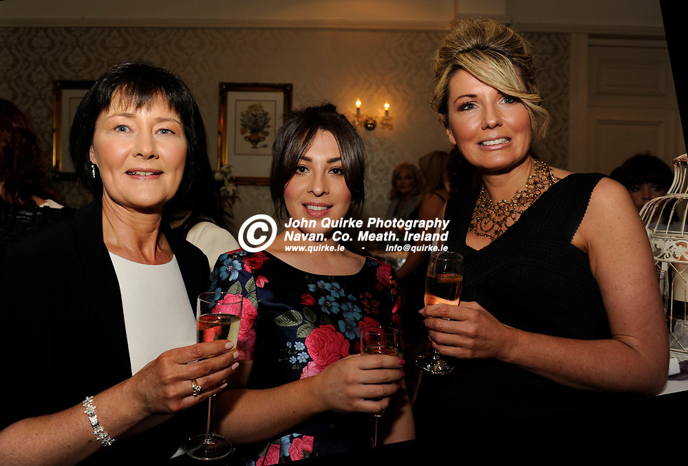 22-04-16. Meath Style Awards at the Headfort Arms Hotel, Kells.<br /> L to R: Kathleen Donnelly, Gabriella Strano and Fiona Hanley-Dixon, Belle Mariee Bridal.<br /> Photo: John Quirke / www.quirke.ie<br /> ©John Quirke Photography, Unit 17, Blackcastle Shopping Cte. Navan. Co. Meath. 046-9079044 / 087-2579454.