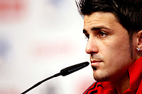 GEPA-1106085530 - NEUSTIFT IM STUBAITAL,AUSTRIA,11.JUN.08 - FUSSBALL - UEFA Europameisterschaft, EURO 2008, Nationalteam Spanien, Pressekonferenz. Bild zeigt David Villa (ESP).<br />