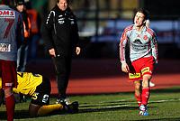 Fotball<br /> Adeccoligaen<br /> Melløs Stadion 17.10.10<br /> Moss - Strømmen<br /> Christer Jensen skriker i frustrasjon<br /> Foto: Eirik Førde