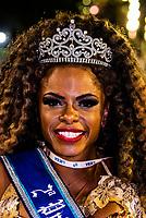 Carnaval Princess at the Sambadrome during the Carnaval parades, Rio de Janeiro, Brazil.