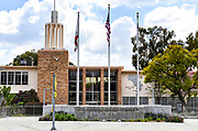 Front Entrance to Whittier Civic Center and City Hall