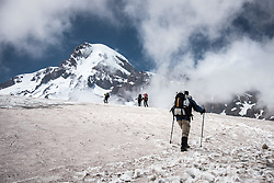 July 20, 2017 - Gori, Caucasus, Georgia - Landscape and natural scenes on Mount Kazbek, the highest mountain in Georgia, which is part of the Caucasus Mountain range on 20 July 2017. (Credit Image: © Diego Cupolo/NurPhoto via ZUMA Press)