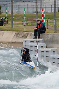 Jada Mustafa-Moore at Lee Valley White Water Centre with Team GBs Canoe Slalom Team on the 7th June 2019 in London in the United Kingdom.