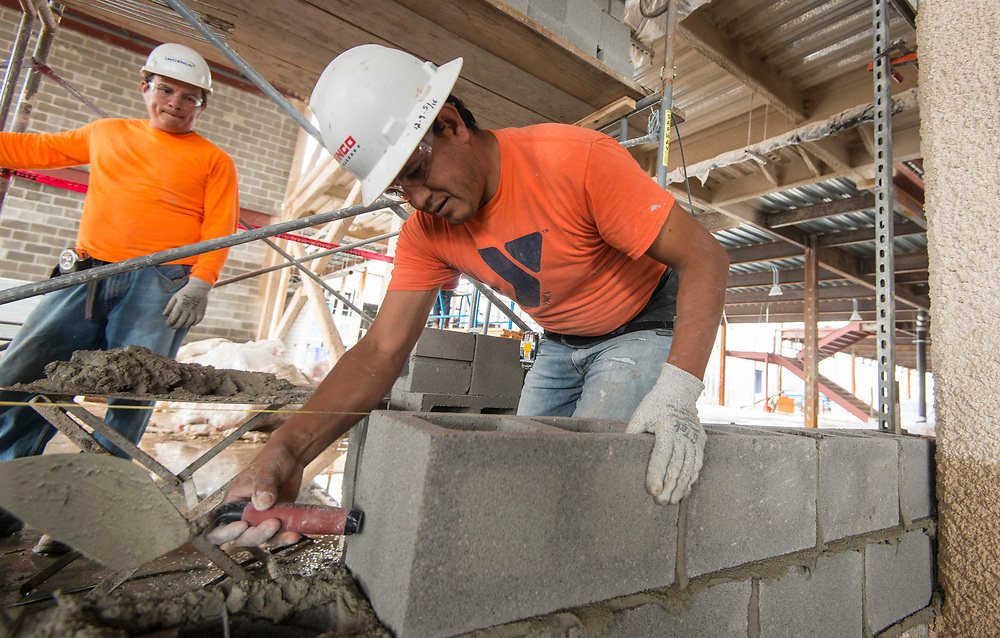 Construction on the new Washington High School, March 9, 2017.