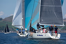 Day 3 Scottish Series, SAILING, Scotland.<br /> <br /> No Worries, J109, 9887T, CCC/HLSC<br /> <br /> The Scottish Series, hosted by the Clyde Cruising Club is an annual series of races for sailing yachts held each spring. Normally held in Loch Fyne the event moved to three Clyde locations due to current restrictions. <br /> <br /> Light winds did not deter the racing taking place at East Patch, Inverkip and off Largs over the bank holiday weekend 28-30 May. <br /> <br /> Image Credit : Marc Turner / CCC