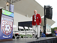 26 August 2007: Hall of Famer Clarkie Souza. The National Soccer Hall of Fame Induction Ceremony was held at the National Soccer Hall of Fame in Oneonta, New York.