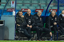 TALLINN, ESTONIA - Monday, October 11, 2021: Wales' manager Robert Page during the FIFA World Cup Qatar 2022 Qualifying Group E match between Estonia and Wales at the A. Le Coq Arena. Wales won 1-0. (Pic by David Rawcliffe/Propaganda)
