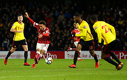 Freddie Hinds of Bristol City shoots at goal - Mandatory by-line: Robbie Stephenson/JMP - 06/01/2018 - FOOTBALL - Vicarage Road - Watford, England - Watford v Bristol City - Emirates FA Cup third round proper