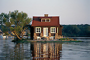 House on its own island  1000 Islands, New York State