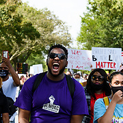 Protests continue after the conclusion of the 'Get Your Knee Off Our Necks' march conducted by the NAN on August 28th 2020 in Washington DC.