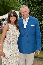 JACKIE ST.CLAIR and CARL MICHAELSON at Goffs London Sale held at The Orangery, Kensington Palace, London on 15th June 2015.