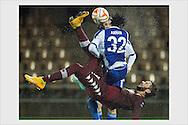 Marcelo Larrondo and Anthony Annan. HJK wins Torino FC 2-1 in Europa League. Helsinki, November 6, 2014.