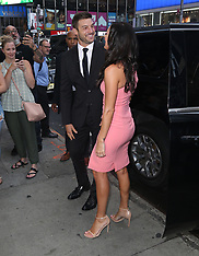 The Bachelorette Becca Kufrin and fiance Garrett Yrigoyen at 'Good Morning America'  - 7 Aug 2018