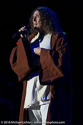 Weird Al Yankovic performing at the Buffalo Chip on Saturday night during the annual Sturgis Black Hills Motorcycle Rally. SD, USA. August 13, 2016. Photography ©2016 Michael Lichter.