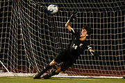 Stowe goalie tries to make a save on the penalty kick during the boys soccer game between Stowe and Burlington at Buck Hard field on Wednesday night September 5, 2018 in Burlington. (BRIAN JENKINS/for the FRESS PRESS)