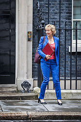 © Licensed to London News Pictures. 02/08/2016. London, UK.  Secretary of State for Environment, Food and Rural Affairs Andrea Leadsom leaves Downing Street after a meeting of the Cabinet Committee on Economy and Industrial Strategy. Photo credit: Rob Pinney/LNP