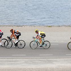 25-06-2016: Wielrennen: NK weg Profs: Ouddorp<br />OUDDORP (NED) wielrennen  <br />Pim Ligthart, Tim Kerkhof, Mike Teunissen, Mathieu van der Poel