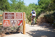 Mountain Biker at Whiting Ranch Wilderness Park