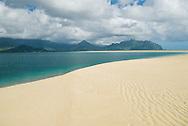 Ahu o Laka sandbar, Kaneohe Bay, Oahu, Hawaii