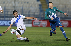 Charis Mavrias of Greece vs Josip Ilicic of Slovenia during football match between National teams of Greece and Slovenia in Final tournament of Group Stage of UEFA Nations League 2020, on November 18, 2020 in Georgios Kamaras Stadium, Athens, Greece. Photo by BIRNTACHAS DIMITRIS / INTIME SPORTS / SPORTIDA