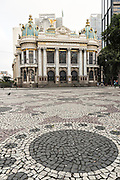 The Municipal Theatre on Cinelandia Square inRio de Janeiro, Brazil.