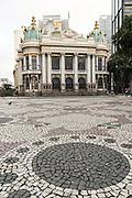 The Municipal Theatre on Cinelandia Square inRio de Janeiro, Brazil.