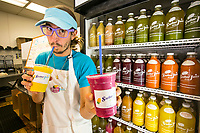 Antony Donico shows off the wares at Stellar Juice Soiree in Agoura Hills, CA.  Nov. 18, 2013 Photo by David Sprague