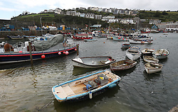 A general view of Mevagissey in Cornwall