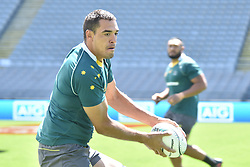 October 21, 2016 - Auckland, New Zealand - Scott Sio passes  during the Australia Wallabies captain's run at Eden Park on October 21, 2016 in Auckland, New Zealand, ahead of the Third Bledisloe Cup test match against New Zealand on Oct 22. (Credit Image: © Shirley Kwok/Pacific Press via ZUMA Wire)