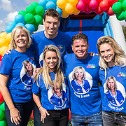 NLD/Amsterdam/20180925 - BN'ers over stormbaan voor metabole ziekte, Ingrid Janssen, Irene Moors, Wolter Kroes, Anouk van Schie, Bas van Goor