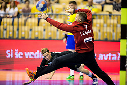 Urban Lesjak of Celje during handball match between RK Celje Pivovarna Lasko and RK Gorenje Velenje in Last Round of 1. Liga NLB 2016/17, on June 2, 2017 in Arena Zlatorog, Celje, Slovenia. Photo by Vid Ponikvar / Sportida