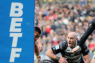 Hull FC second row forward Gareth Ellis (29)  during the Betfred Super League match between Hull FC and St Helens RFC at Kingston Communications Stadium, Hull, United Kingdom on 16 February 2020.
