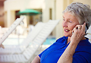 Senior Woman On Mobile Phone