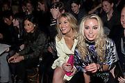HOFIT GOLAN; NOELLE RENO, Issa Fashion show. Somerset House. London. 19 February 2010. -DO NOT ARCHIVE-© Copyright Photograph by Dafydd Jones. 248 Clapham Rd. London SW9 0PZ. Tel 0207 820 0771. www.dafjones.com.