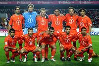 Fotball<br /> VM-kvalifisering<br /> 08.10.2005<br /> Tsjekkia v Nederland 0-2<br /> Foto: ProShots/Digitalsport<br /> NORWAY ONLY<br /> <br /> eamfoto achter: van nistelrooij , van der sar , kuyt , maduro , kromkamp en boulahrouz . voor : van bronckhorst , robben , van der vaart , opdam en landzaat