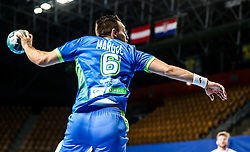Gasper Marguc of Slovenia in action during handball match between National Teams of Slovenia and Poland in Qualification Phase 2 of Men's EHF Euro 2022 Qualifiers, on March 9, 2021 in Arena Zlatorog, Celje, Slovenia. Photo by Vid Ponikvar / Sportida