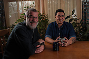 COLUMBIA, MD -- 12/20/14 -- Mark Johnson-Lewis, 48, and his son, Tyler Lewis, 22, talk about the complexity of being a biracial family..…by André Chung #_AC23030