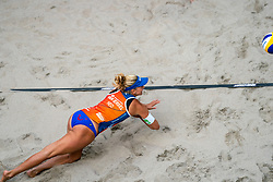 Marleen Ramond-van Iersel in action during the third day of the beach volleyball event King of the Court at Jaarbeursplein on September 11, 2020 in Utrecht.
