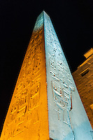 Egypt. Luxor Temple is a large temple complex founded in 1400 BC. The entrance with the large obelisk.