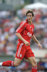 Fribourg, Switzerland - Friday, July 20, 2007: Liverpool's Fernando Torres in action against AJ Auxerre during a pre-season friendly at Stade St-Leonard. (Photo by David Rawcliffe/Propaganda)