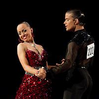 23 January 2010: Anna Mashchyts and Damir Haluzan perform during the Masters Bercy Latin and Ballroom (standard) Dancesport Championship 2010, at Palais Omnisports Paris Bercy, in Paris, France. .