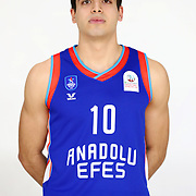 Anadolu Efes's Enes Bayraktar poses during the 2020-2021 Garanti BBVA BGL Media Day at the Anadolu Efes Sports Hall on February 02, 2021 in İstanbul, Turkey. Photo by Aykut AKICI/TURKPIX