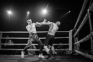 Ultimate bare-Knuckle boxing competition at Manchester's Bowlers Exhibition Centre, Old Trafford, Manchester, UK.<br /> Photo shows Lucas Marshall from Brazil, who won his fight against Latvian Tadas Ruzga. <br /> Photo ©Steve Forrest/Workers' Photo