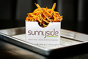 SHOT 8/21/14 1:40:10 PM - Sunnyside Burger Bar french fries. The Sunnyside Burger Bar will feature burgers from chef Troy Guard and will open in August 2014 at West 38th Avenue and Lipan Street in the Sunnyside neighborhood in Denver, Co. (Photo by Marc Piscotty / © 2014)