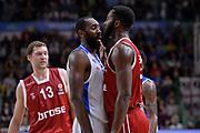 DESCRIZIONE : Eurolega Euroleague 2015/16 Group D Dinamo Banco di Sardegna Sassari - Brose Basket Bamberg<br /> GIOCATORE : Christian Eyenga Gabe Olaseni<br /> CATEGORIA : Fair Play Rissa<br /> EVENTO : Eurolega Euroleague 2015/2016<br /> GARA : Dinamo Banco di Sardegna Sassari - Brose Basket Bamberg<br /> DATA : 13/11/2015<br /> SPORT : Pallacanestro <br /> AUTORE : Agenzia Ciamillo-Castoria/L.Canu